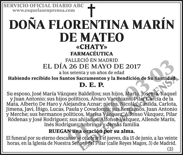 Florentina Marín de Mateo